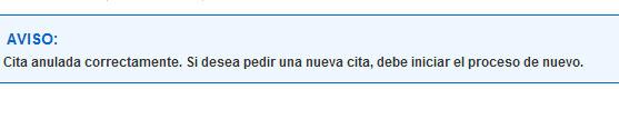 Aviso tras anular cita Agencia Tributaria