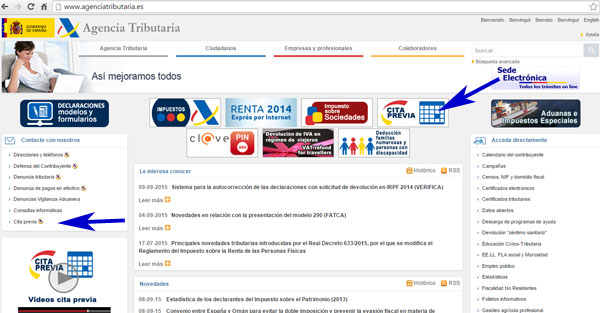 cita online para AEAT en Huelva